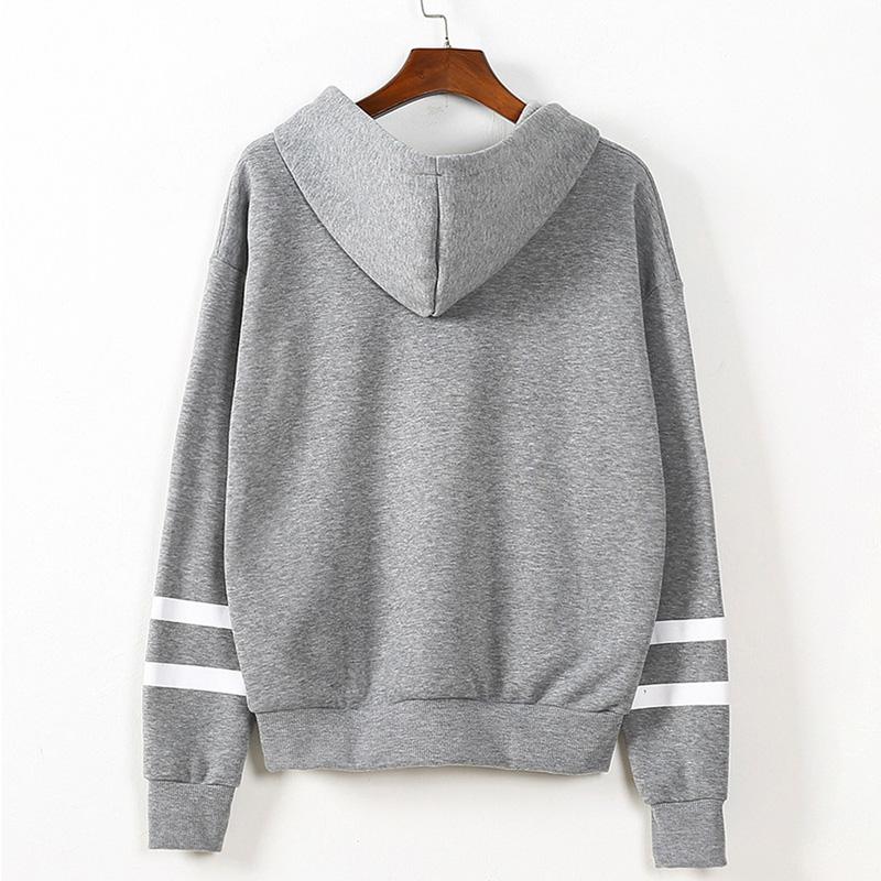 Women Long Sleeve Hoodie Pullover Sweatshirt Sweater Floral Hooded Autumn Tops