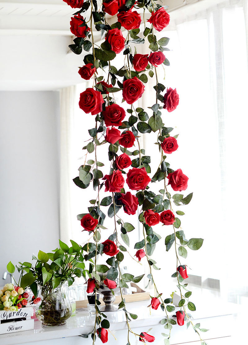pflanzen k nstliche blumen girlande kunstpflanzen m bel hochzeit deko kunstblume ebay. Black Bedroom Furniture Sets. Home Design Ideas