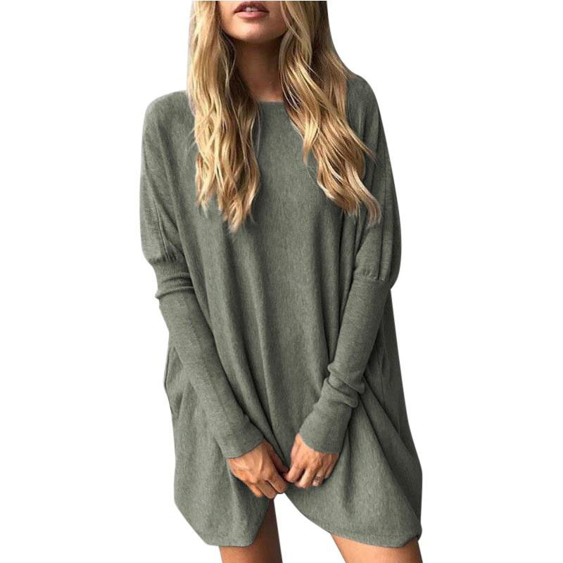 Ladies-Casual-Long-Sleeve-Knitwear-T-Shirt-Loose-Tee-Top-Blouse-Pullover-sweater
