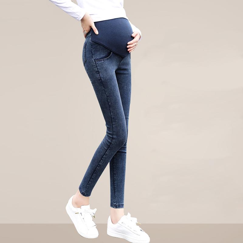 Women Capris Maternity Jeans Trousers Pregnancy Pants ...