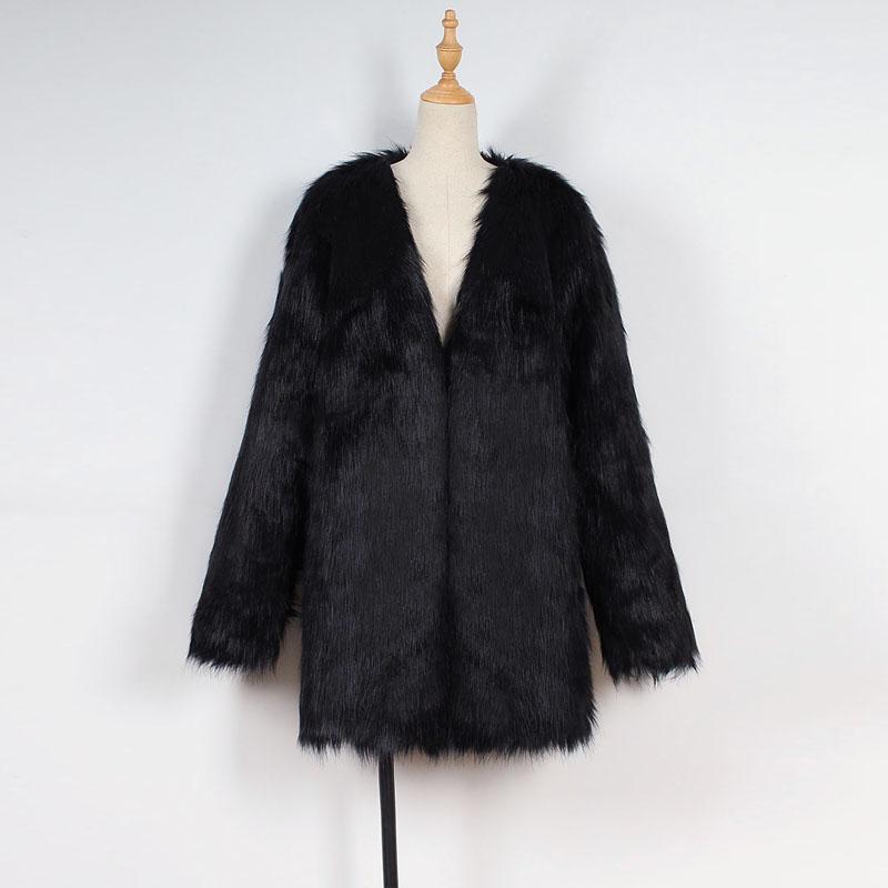 winter damen faux pelz m ntel outwear jacken parka offene. Black Bedroom Furniture Sets. Home Design Ideas