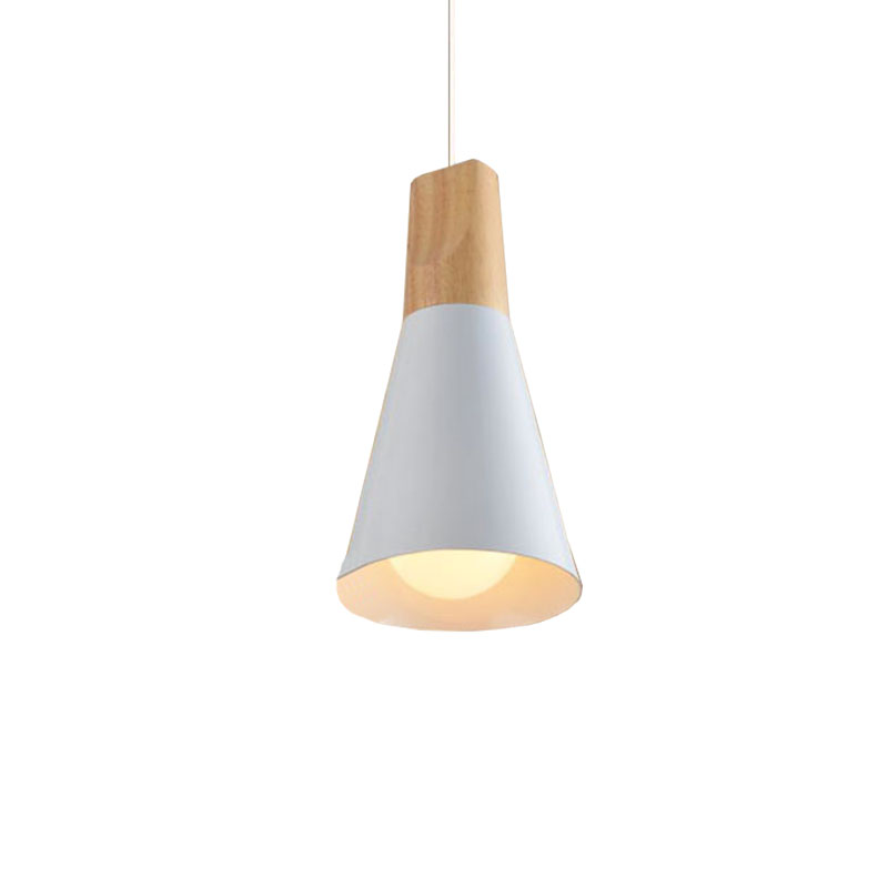 E27 Modern Wooden Pendant Ceiling Hanging Lamp Chandelier