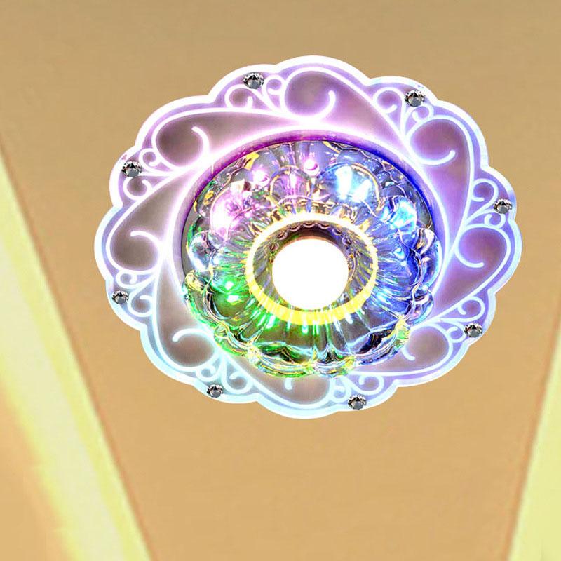 Modern Acrylic Crystal LED Ceiling Pendant Light Lamp ...