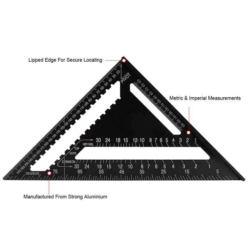 how to use a metric rafter square