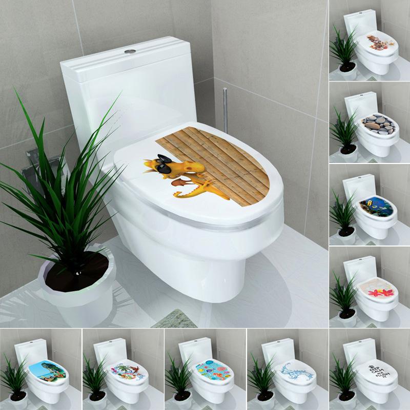 Fai da te bagno casa toilette sedute adesivi da parete - Toilette da bagno ...