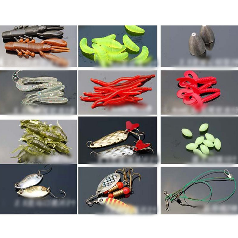 101pcs trout bass fishing lures crankbaits set kit soft for Hard and soft fishing