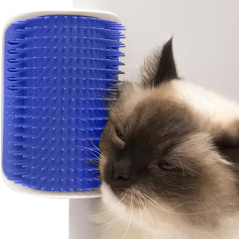 For Pet Cats Self Groomer Brush Wall Corner Massage