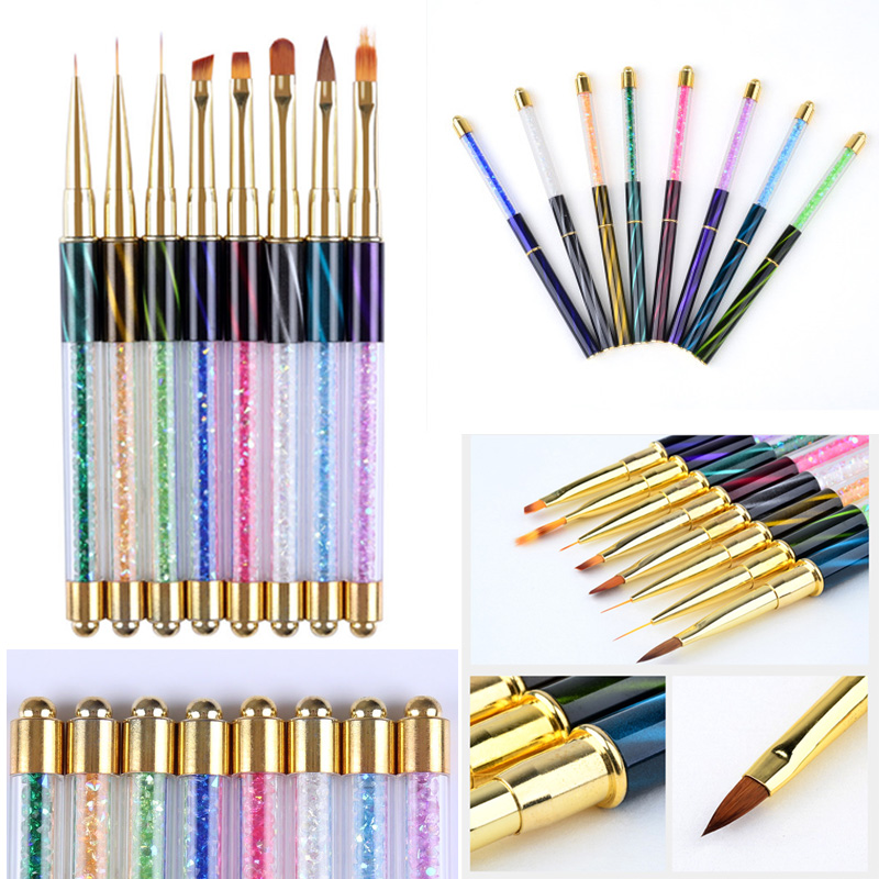 Nail Art UV Gel Liner Painting Gradient Brush Pen ...