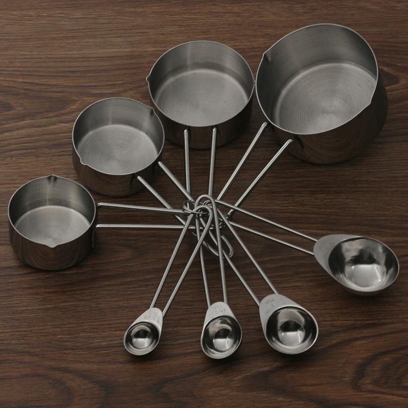 Ensemble 4 pi ces inox cuill res a mesurer cups set for Set cuisine inox