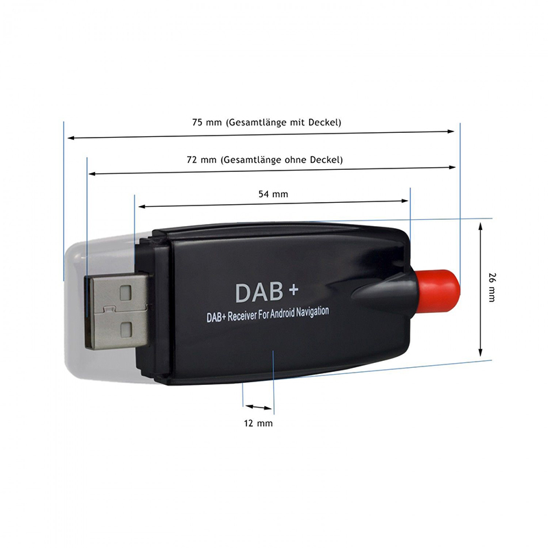 usb dab receiver tuner scheibe antenne adapter stick f r. Black Bedroom Furniture Sets. Home Design Ideas